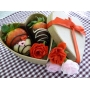 Chocolate Dipped Strawberries - Heart Box